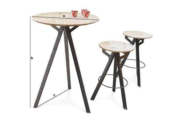 Tavolino da bar jetson spendido la base in metallo pib for Dimensions set de table