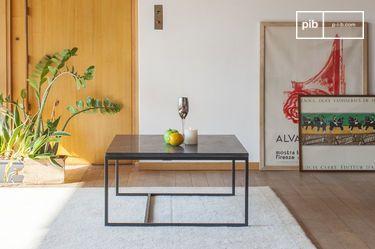 Tavolino da caffè Avedore in marmo nero