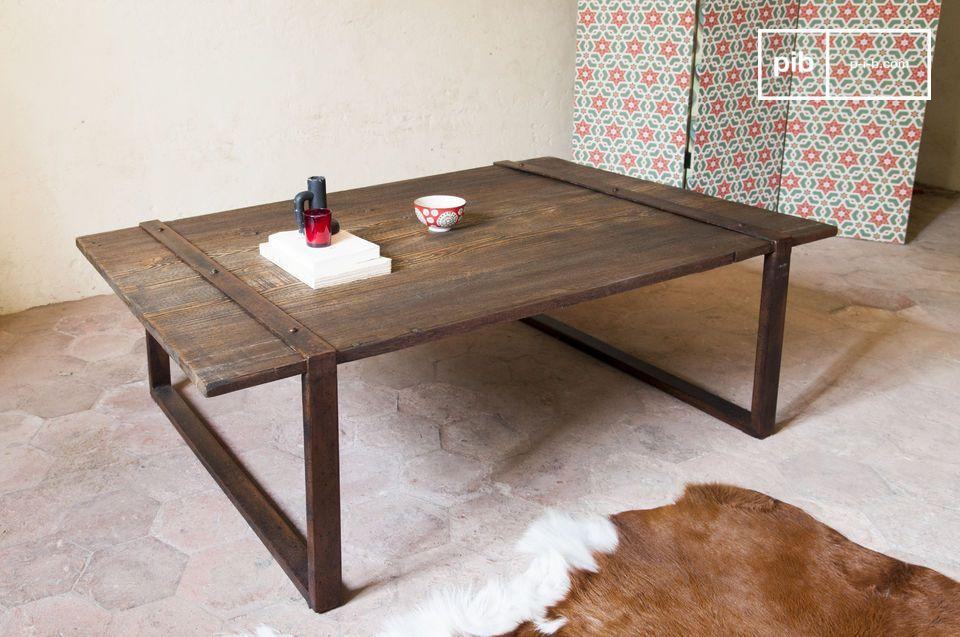 Solido legno di olmo, 100% stile industriale.