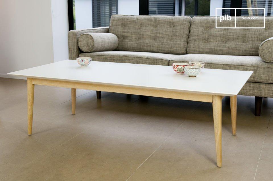 Tavolino da caffè Fjord rettangolare