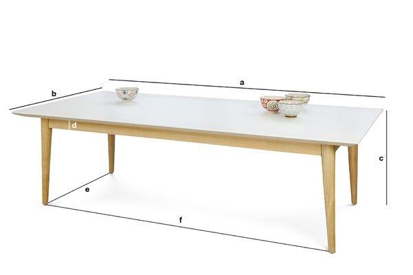 Dimensioni del prodotto Tavolino da caffè Fjord rettangolare