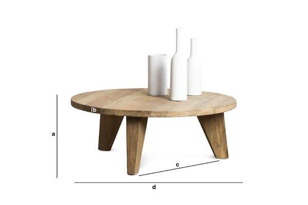 Dimensioni del prodotto Tavolino  da caffè Hërkal