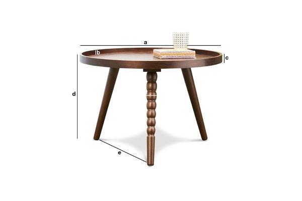 Dimensioni del prodotto Tavolino da caffè Katalina