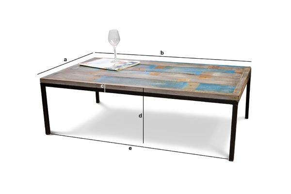 Dimensioni del prodotto Tavolino da caffé Moriz