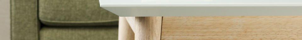 Materiali prima di tutto Tavolino da caffè quadrato Fjord