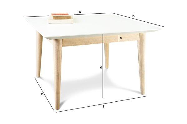 Dimensioni del prodotto Tavolino da caffè quadrato Fjord
