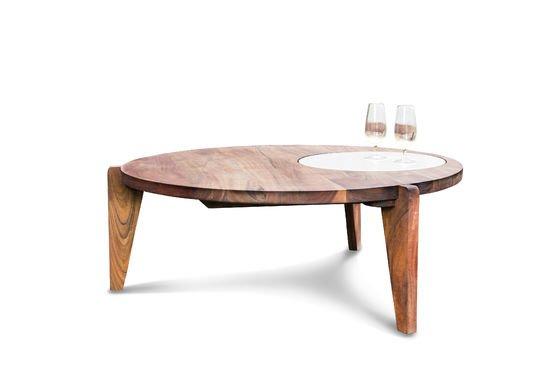 Tavolino da salotto a tre gambe Stockholm Foto ritagliata