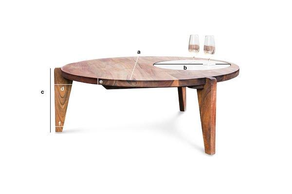 Dimensioni del prodotto Tavolino da salotto a tre gambe Stockholm