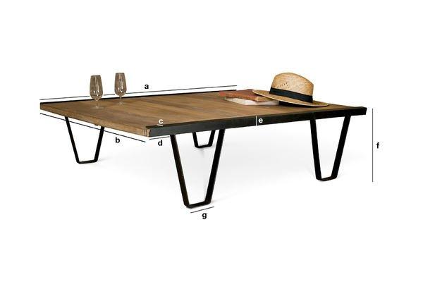 Dimensioni del prodotto Tavolino da Salotto Bay Teck