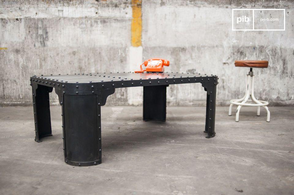 Tavolino Industriale 100% Acciaio Rivettato
