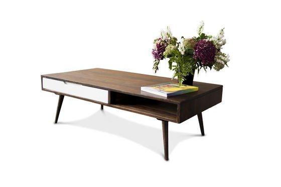 Tavolino da salotto Brown White Foto ritagliata