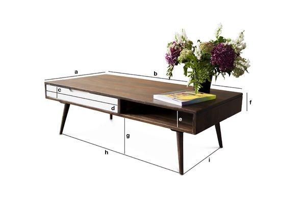 Dimensioni del prodotto Tavolino da salotto Brown White