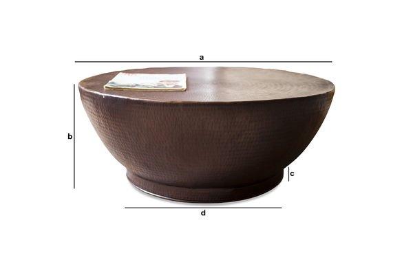 Dimensioni del prodotto Tavolino da Salotto Calaba