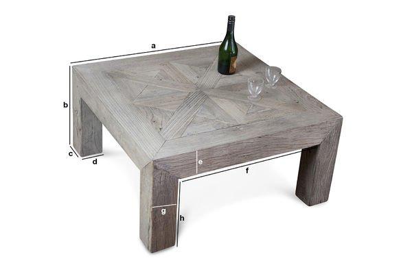 Dimensioni del prodotto Tavolino da salotto Charpente