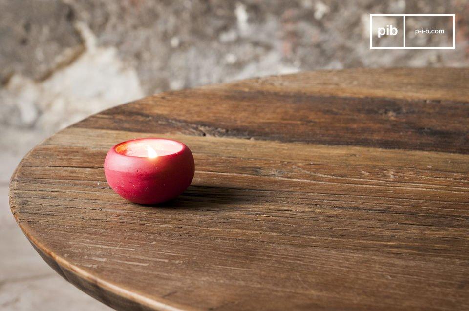 Tavolo rotondo in legno nobile