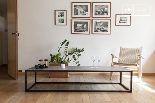 Tavolino da salotto in cuoio Rothmann