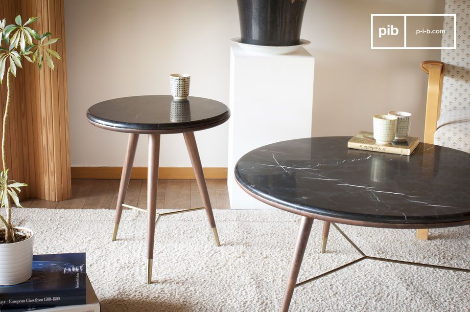Tavolino da salotto in marmo nero siv rt pib for Tavolino per salotto