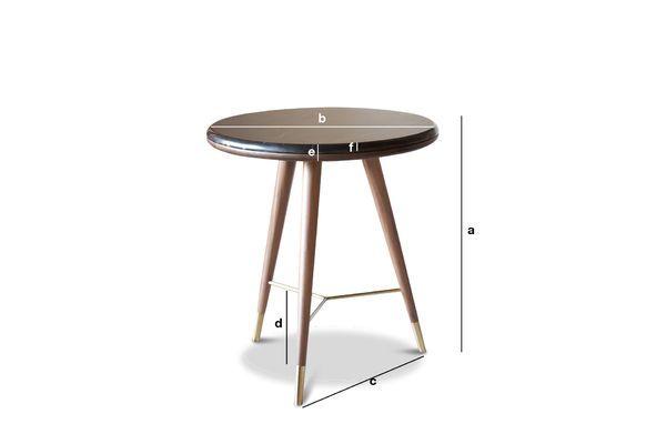 Dimensioni del prodotto Tavolino da salotto in marmo nero  Sivärt