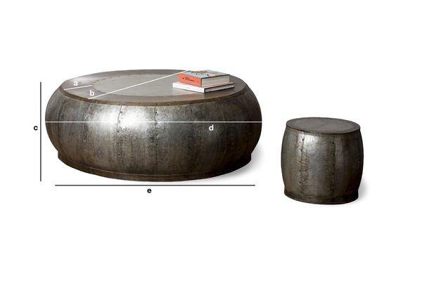 Dimensioni del prodotto Tavolino da salotto in metallo Tubisteel