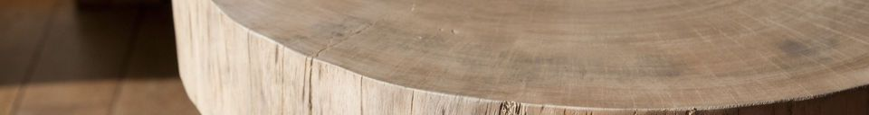Materiali prima di tutto Tavolino da salotto in tronco d'albero Natural Luka