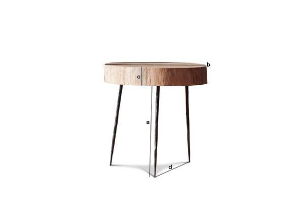 Dimensioni del prodotto Tavolino da salotto in tronco d'albero Natural Luka
