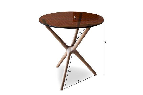 Dimensioni del prodotto Tavolino da salotto in vetro Nodern