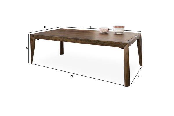 Dimensioni del prodotto Tavolino da salotto Kitell