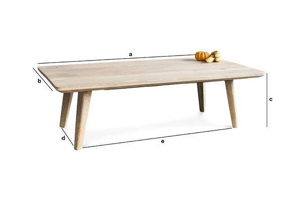 Dimensioni del prodotto Tavolino da salotto Möka