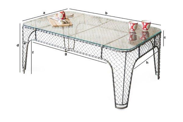 Dimensioni del prodotto Tavolino da Salotto Ontario