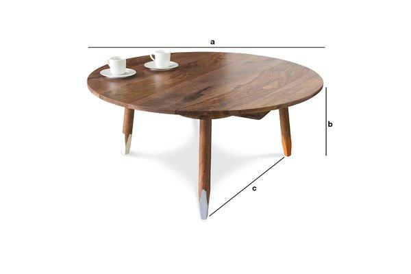 Dimensioni del prodotto Tavolino da salotto Pencil