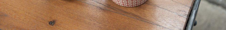 Materiali prima di tutto Tavolino da salotto stile carrello su rotaia