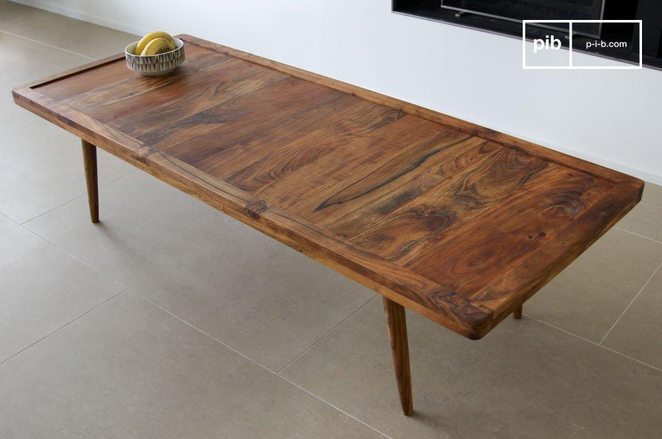 Questo elegante tavolino da salotto prende la sua ispirazione dal tipico design scandinavo vintage
