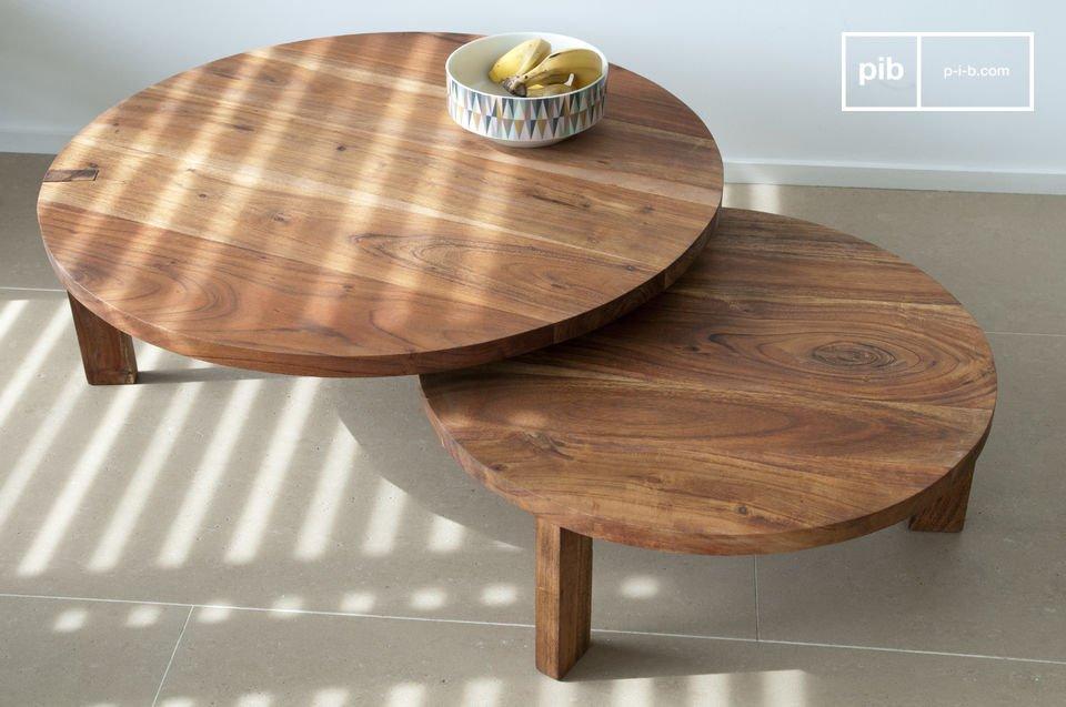 Tavolino da salotto stockholm con doppio ripiano pib
