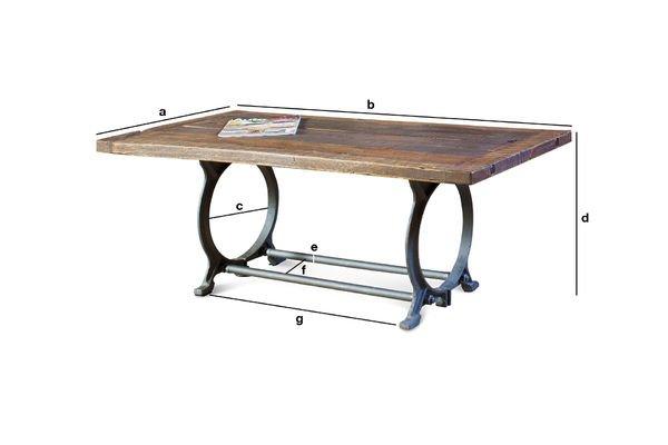 Dimensioni del prodotto Tavolino da salotto Tonnel