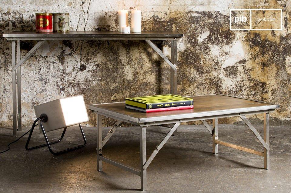 Tavolino da salotto tremy pratico arredo industriale pib for Salotto stile industriale