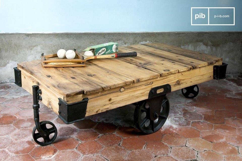 Tavolino da Salotto Wood Wagon - In legno pregiato | pib