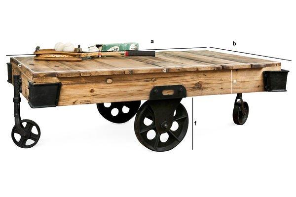 Dimensioni del prodotto Tavolino da Salotto Wood Wagon