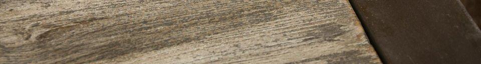 Materiali prima di tutto Tavolino di legno teak riciclato