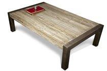 Tavolino di legno teak riciclato