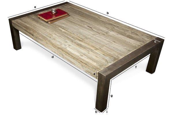 Dimensioni del prodotto Tavolino di legno teak riciclato