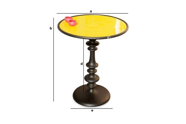 Dimensioni del prodotto Tavolino giallo Alice