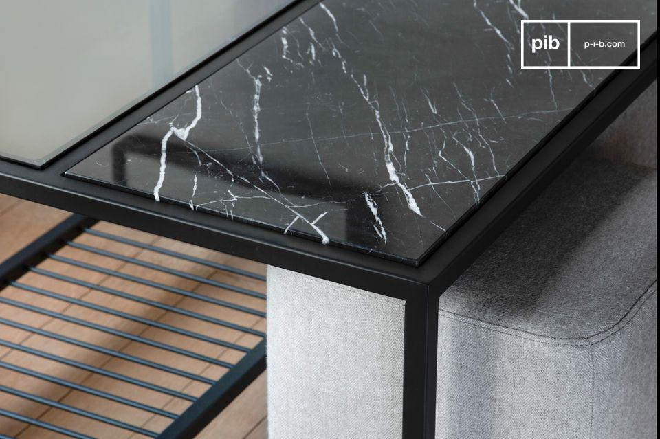 Tavolino in marmo e pouf Noora