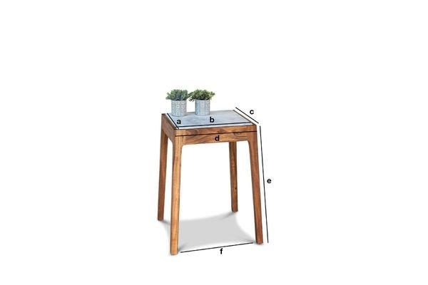 Dimensioni del prodotto Tavolino in marmo Marmori
