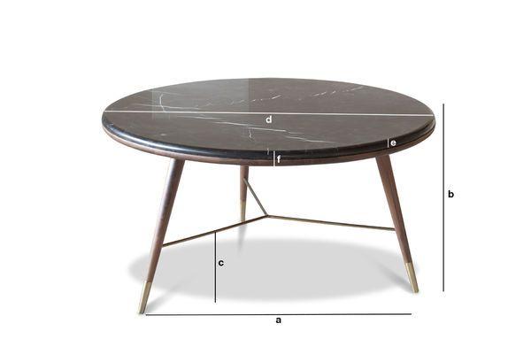Dimensioni del prodotto Tavolino in marmo nero Sivärt