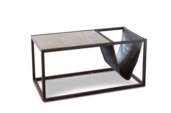 Tavolino in pietra con portariviste Ibiza Foto ritagliata