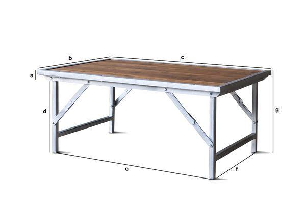 Dimensioni del prodotto Tavolino in teak Bollène