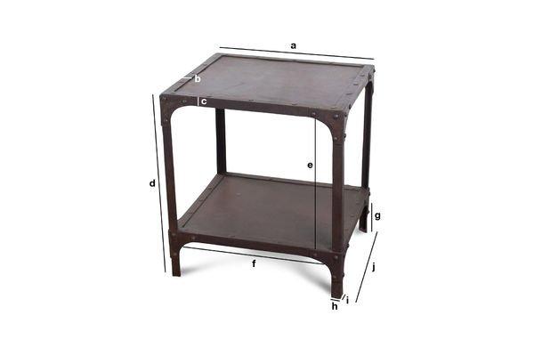 Dimensioni del prodotto Tavolino Industrial