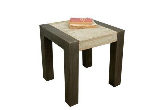 Tavolino occasionale in teak recuperato Foto ritagliata