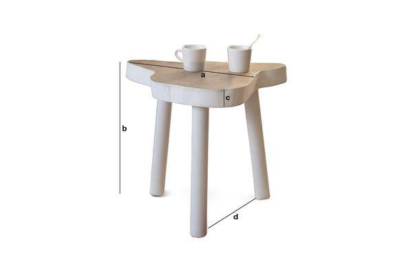 Dimensioni del prodotto Tavolino Occasionale Nederland