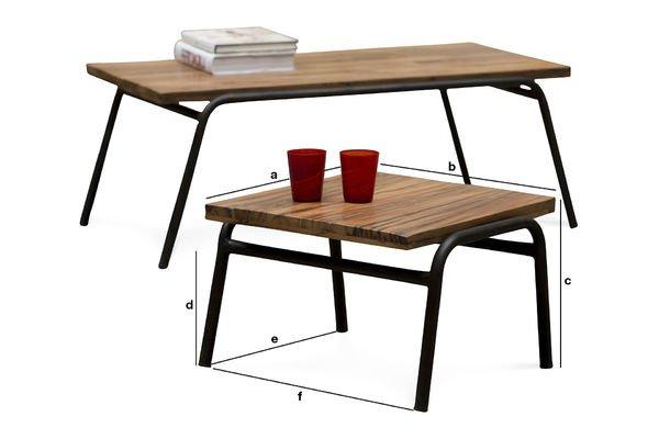 Dimensioni del prodotto Tavolino occasionale Regular